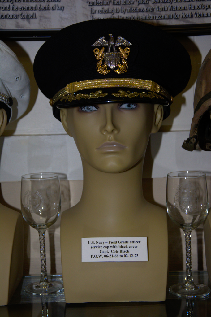 384c644ef9a US Navy Field Grade officer s service cap with black cover worn by Capt.  Cole Black